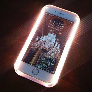 Pink Rose Gold Selfie Light-up iPhone Case